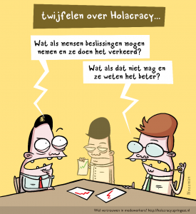 Holacracy zelfsturing cartoon - Springest Nozzman Small